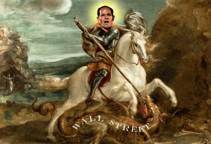Eliot Spitzer as Saint George