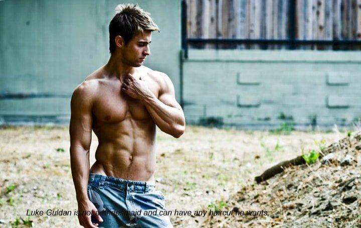 Luke Guldan shirtless