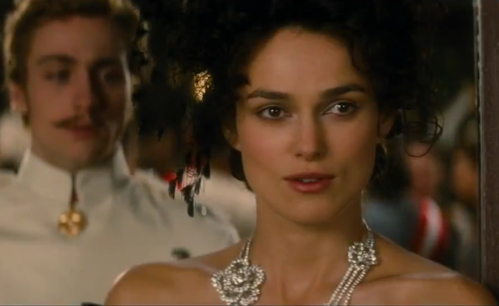 Keira Knightley and Aaron Taylor-Johnson in Anna Karenina