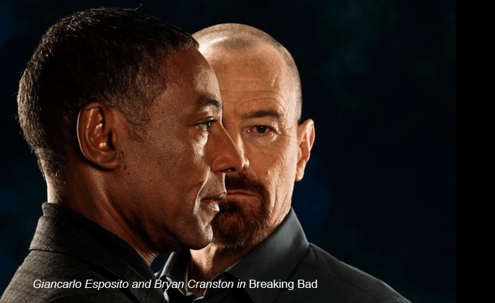 Giancarlo Esposito and Bryan Cranston in Breaking Bad