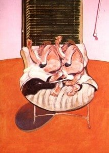 Bacon Two figures Lying on a Bed with Attendants 1968 center