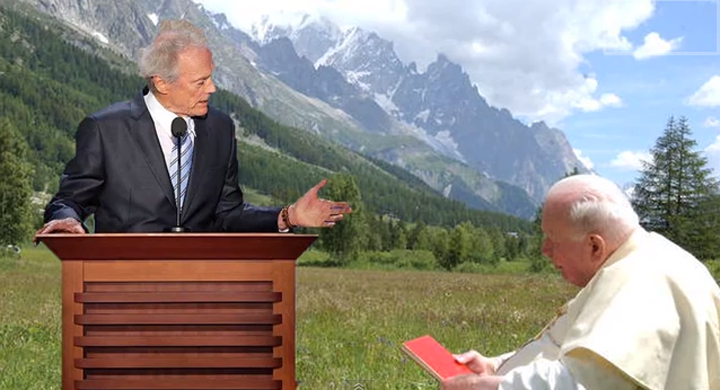 Clint Eastwood Talking to a Chair