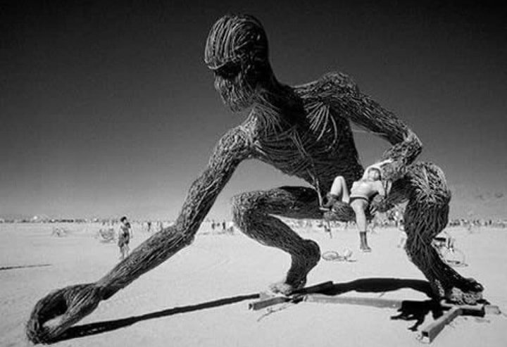 Burning Man Alien Scultpure