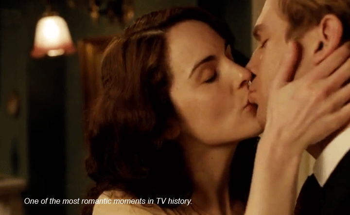 Downton Abbey Mary Matthew Kissing