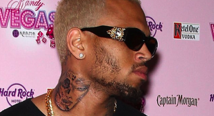 Chris Brown Neck Tattoo Rihanna