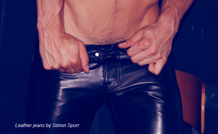 Simon Spurr leather jeans