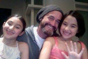 James Killough with his nieces Savannah and Uma