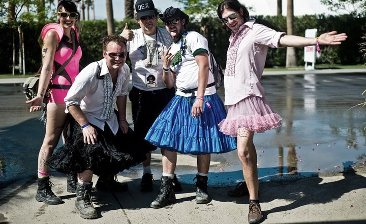 Coachella Festival goers