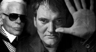 Karl Lagerfeld Quentin Tarantino