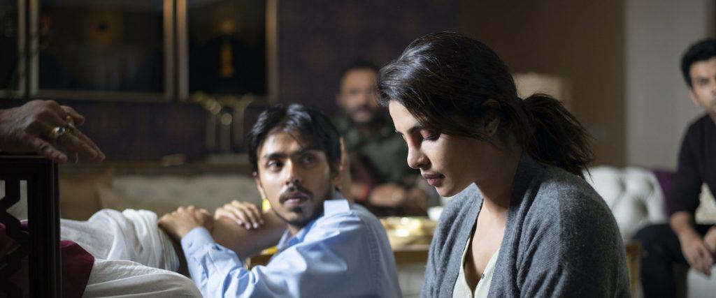Still from The White Tiger with Priyanka Chopra Jonas and Ardash Gourav