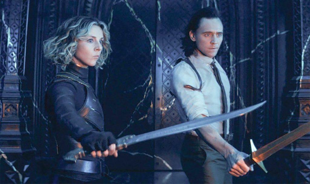 Tom Hiddleston and Sophie De Marino Marvel Loki